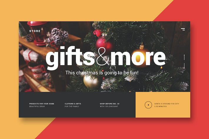 Thumbnail for Christmas Store - Landing Page