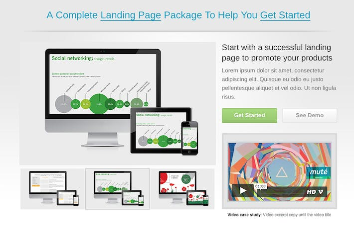 Thumbnail for Start. Responsive Landing Page