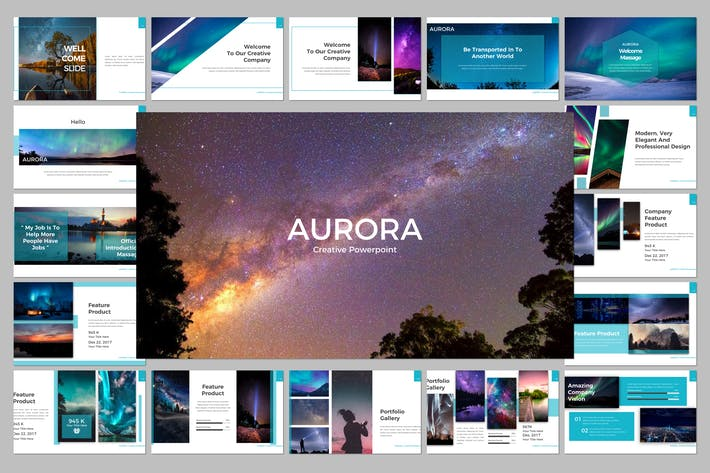 Thumbnail for Aurora Keynote Template