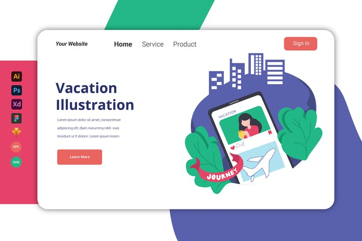 Thumbnail for Vacation - Landing Page