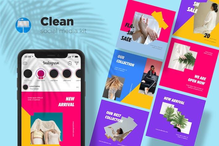 Thumbnail for Clean Social Media Kit Bd. 01 - Keynote