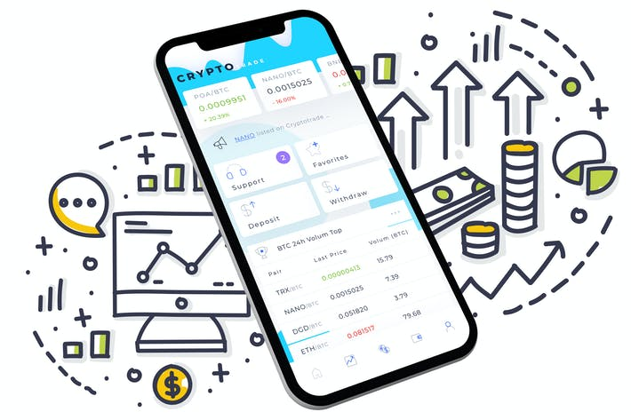 Thumbnail for Crypto Trade Home Mobile Ui