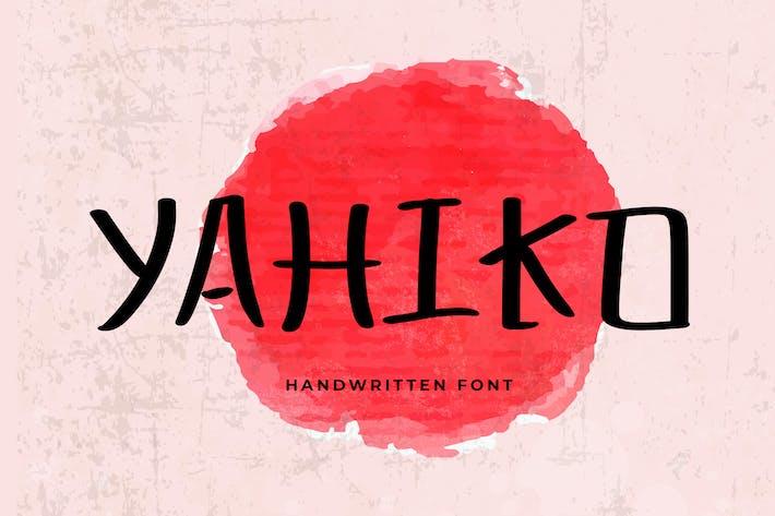 Thumbnail for Police manuscrite ludique Yahiko
