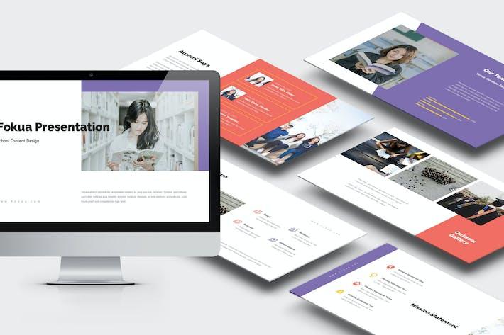 Thumbnail for Фокуа: Школьный профиль Powerpoint