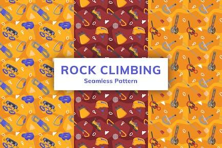 Rock Climbing Seamless Pattern