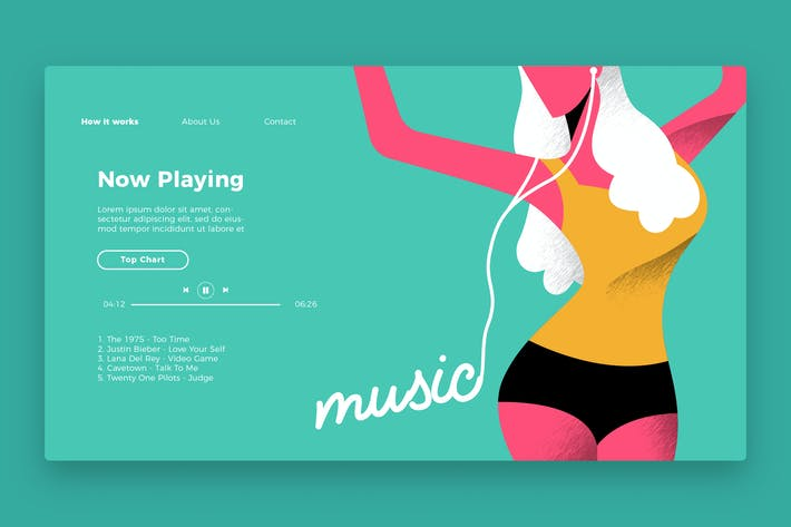 Thumbnail for Music - Banner & Landing Page