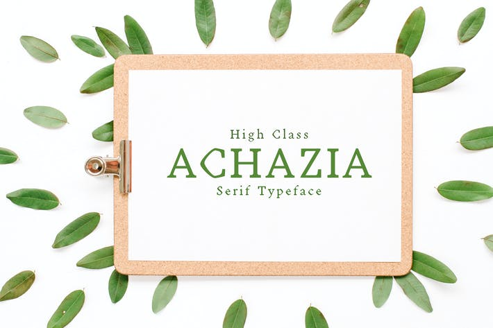 Thumbnail for Achazia Serif Font Family Pack