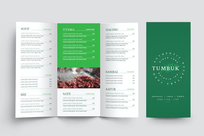 Thumbnail for Restaurant Trifold Menu
