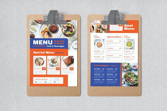 Thumbnail for Modern Food Menu