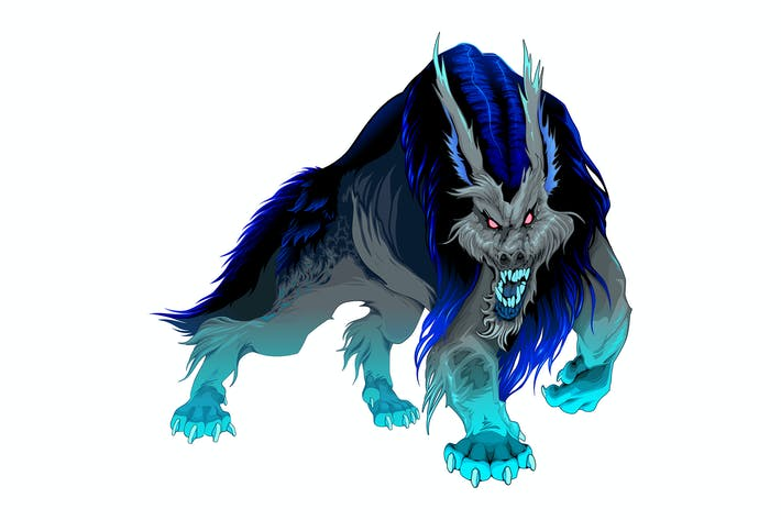 Thumbnail for Furious Werewolf with Black and Blue Mane
