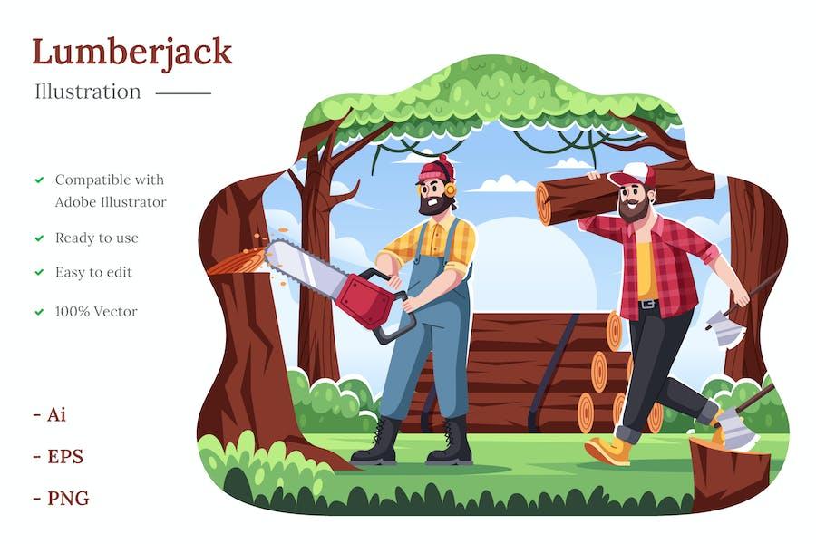 Lumberjack Illustration