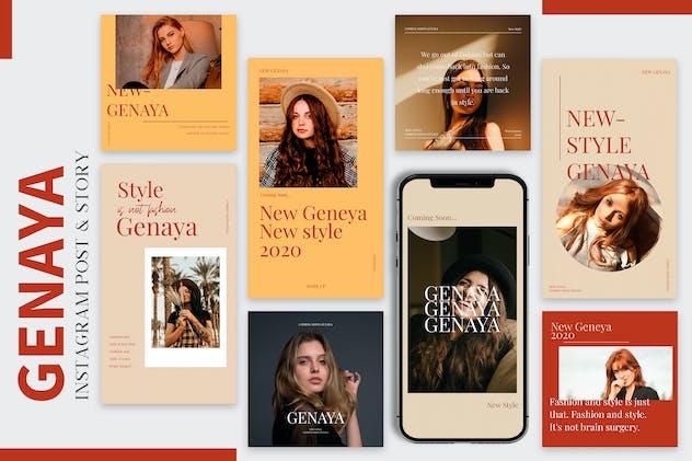 Genaya - Fashion Instagram Post & Story Pack