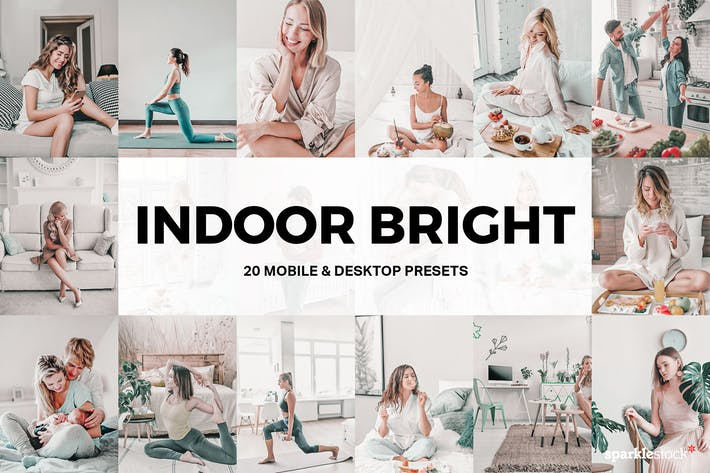 Thumbnail for 20 Indoor Bright Lightroom Presets and LUTs