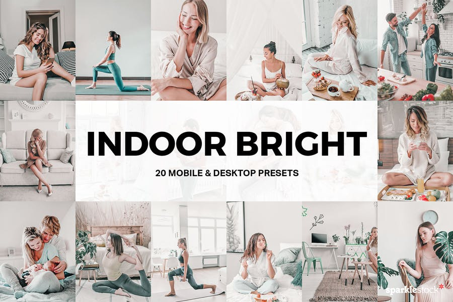 20 Indoor Bright Lightroom Presets and LUTs