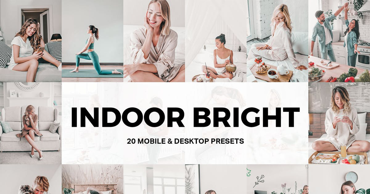 Download 20 Indoor Bright Lightroom Presets and LUTs by sparklestock
