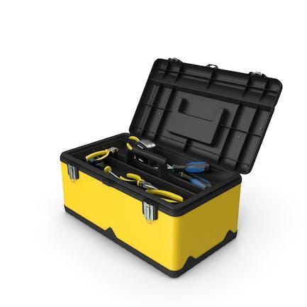 Caja de herramientas amarilla