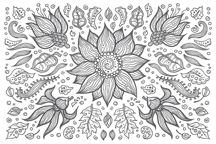 Thumbnail for Floral composition - hand drawn illustration