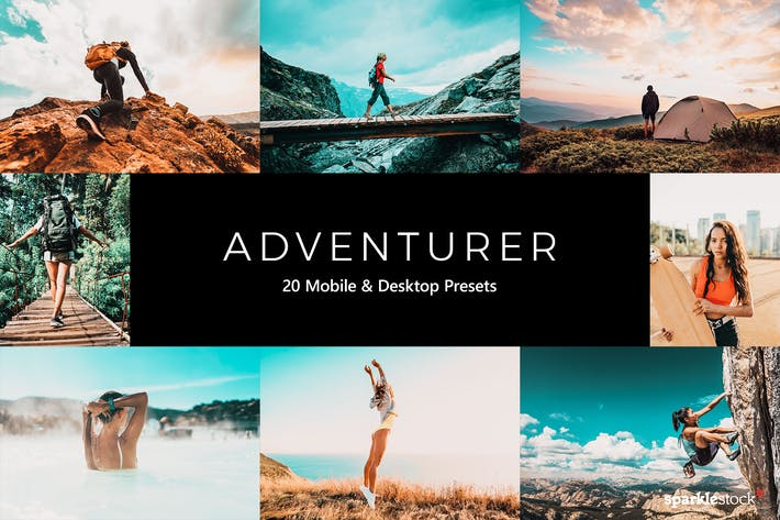 Thumbnail for 20 preajustes y LUTs de aventurero Lightroom