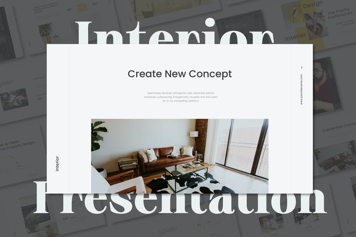 Thumbnail for Interior Business & Minimal Keynote Template