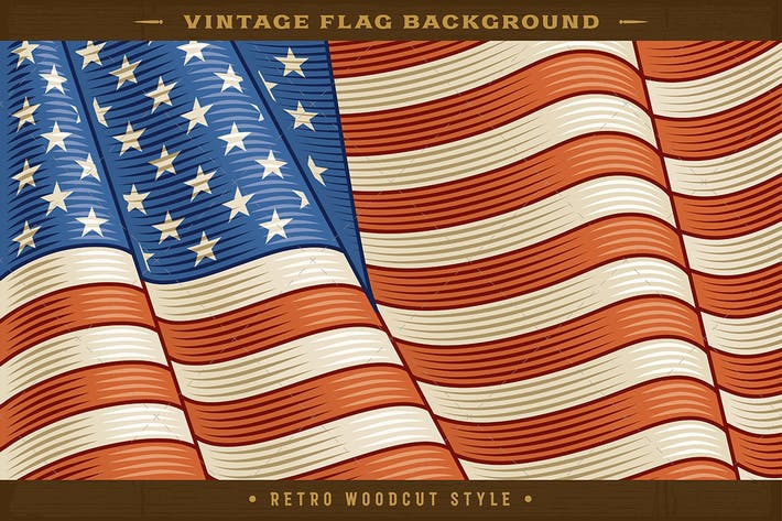 Thumbnail for Vintage American Flag Background