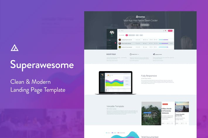 Thumbnail for Superawesome - Creative Multi-Purpose Landing Page