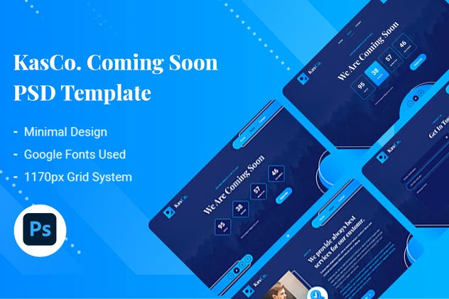 KasCo - Creative Coming Soon PSD Template