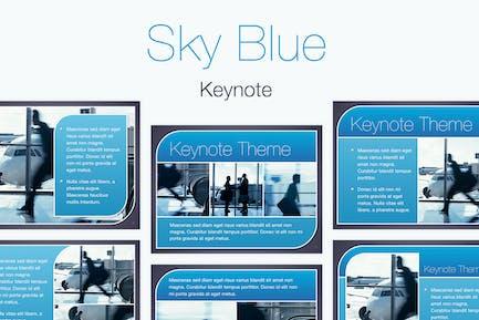 Sky Blue Keynote Template