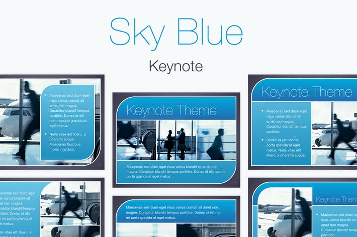 Thumbnail for Sky Blue Keynote Template