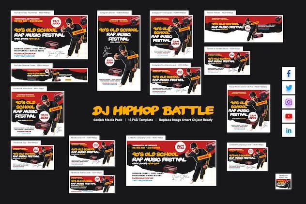 DJ Hiphop Battle Social Media Pack