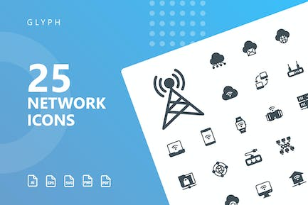 Network Glyph Icons