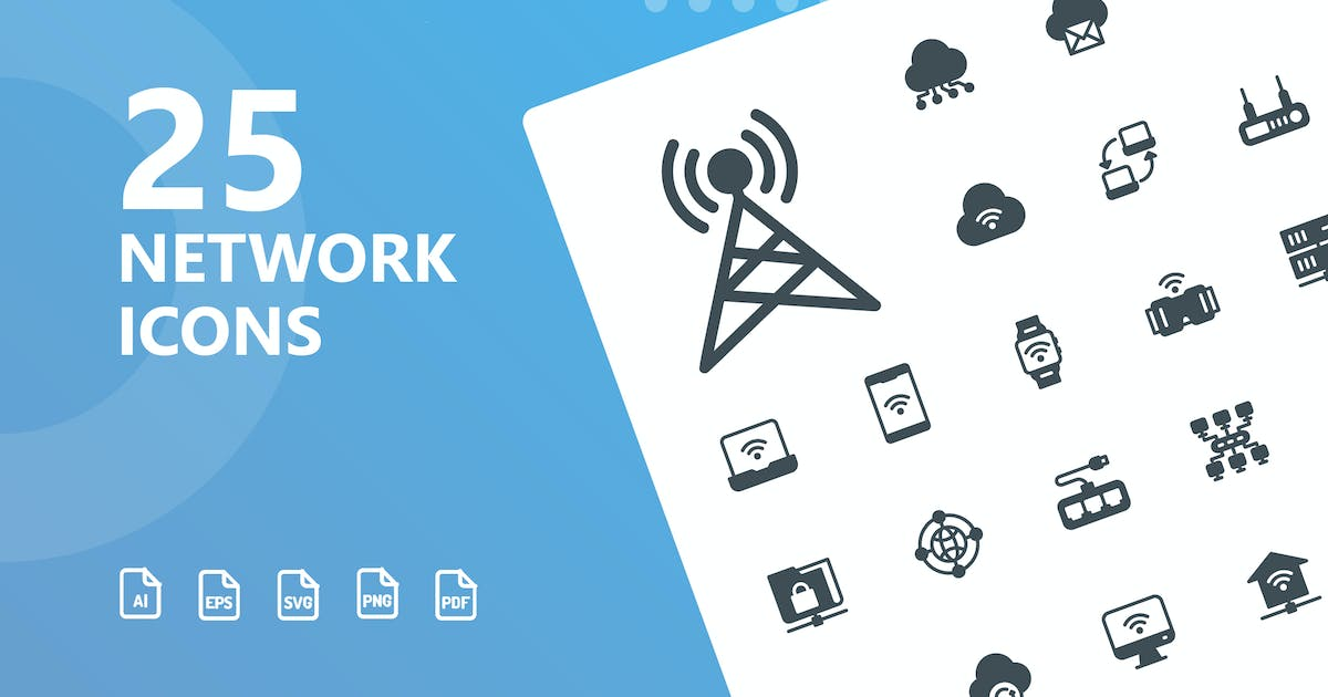 Download Network Glyph Icons by kerismaker