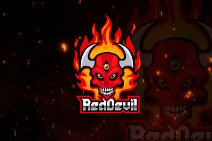 Red Devil Mascot & eSports Gaming Logo