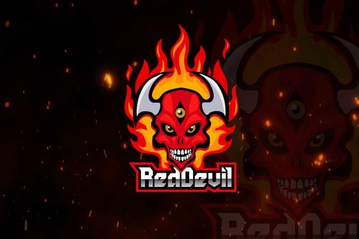 Thumbnail for Red Devil Mascot & eSports Gaming Logo