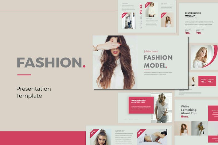 Thumbnail for FASHION - Powerpoint Template