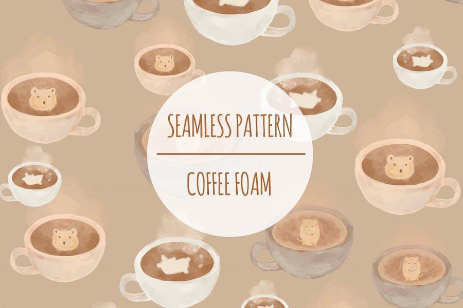 Kaffeeschaum — Nahtloses Muster