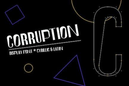 Corruption font
