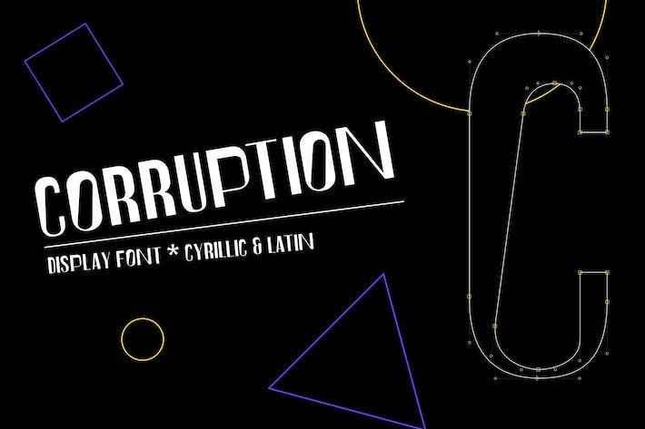 Thumbnail for Corruption font