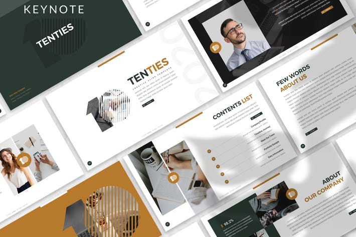 Thumbnail for Tenties - Creative Startup Keynote Template