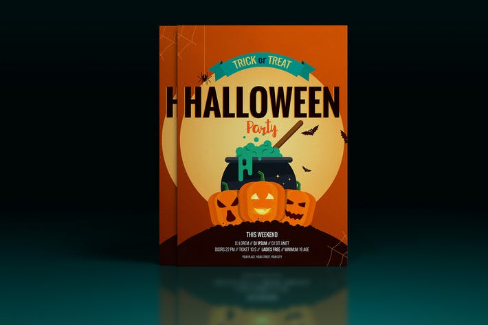 Thumbnail for Halloween poster design