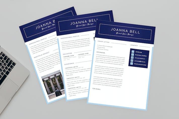 Thumbnail for Branch Office Resume Designer