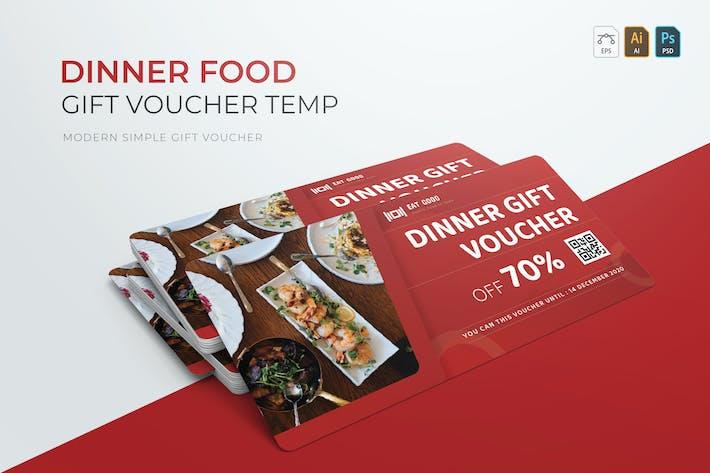 Thumbnail for Dinner Food | Gift Voucher