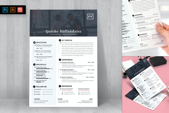 Thumbnail for Resume CV Template-77