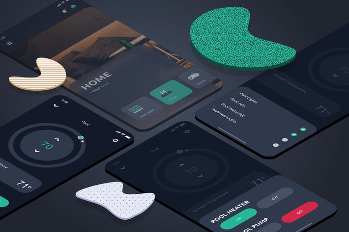 Thumbnail for Smart Home Pool Mobile UI - FD