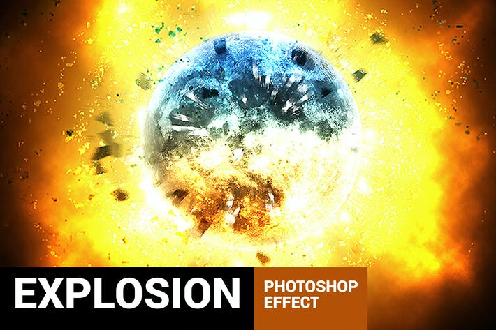 Cover Image For Explodum - Blast Wave Photoshop Action