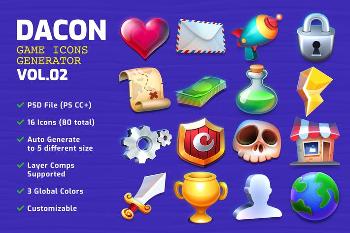 Thumbnail for DACON - Game Icon Generator v.02