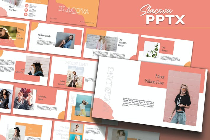Thumbnail for SLACOVA - Мода Powerpoint Шаблон
