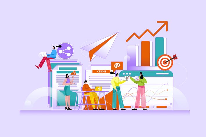 Thumbnail for Marketing Digital - Ilustración Vector