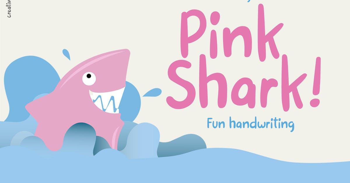 Download Pink Shark - Fun handwritten by creativemedialab