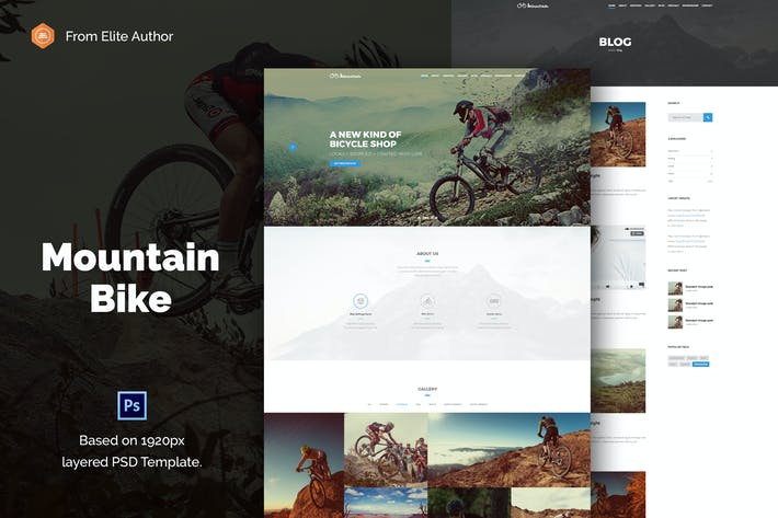 Thumbnail for Mountain Bike: Creative Extreme Sport PSD Template