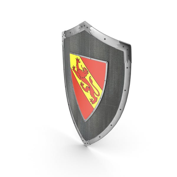 Knight Shield with Lion Coat of Arms -  Blazon